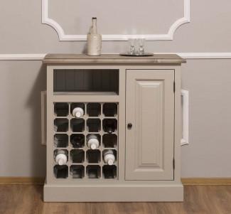 Bufet cu compartiment pentru sticle - Culoare Top_P037 - Culoare Corp_P024 - DUBLU COLOR