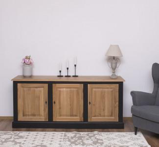 Bufet cu 3 usi Colectia Oak&Pine - Culoare Brad_P003 - Culoare Stejar_P061 - DUBLU COLOR